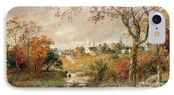 Autumn Landscape IPhone Case by Jasper Francis Cropsey