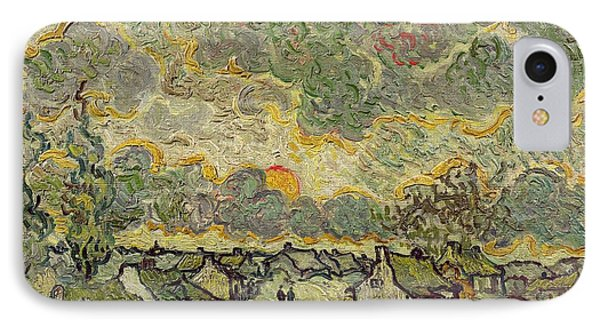 Autumn Landscape IPhone Case by Vincent Van Gogh