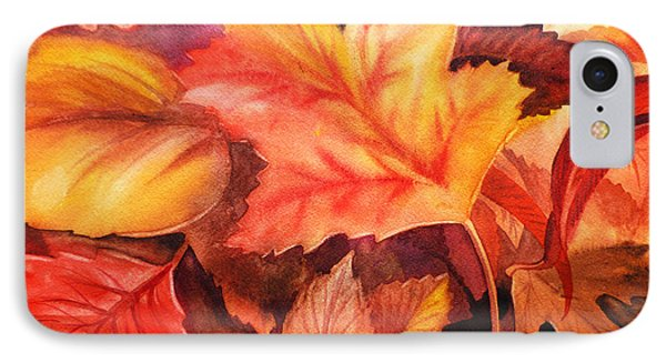 Autumn Leaves IPhone Case by Irina Sztukowski