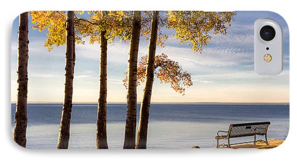 Autumn Morn On The Lake IPhone Case by Mary Amerman