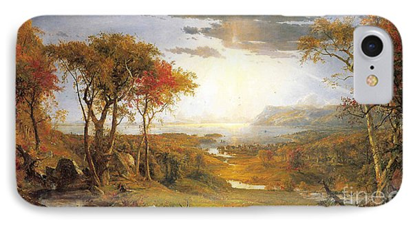 Autumn On The Hudson River  IPhone Case by Celestial Images