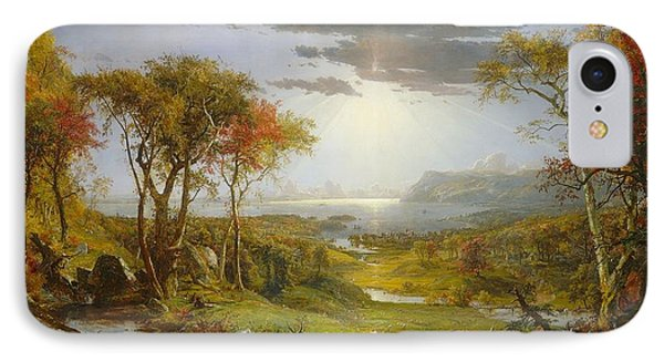Autumn On The Hudson River  IPhone Case by MotionAge Designs