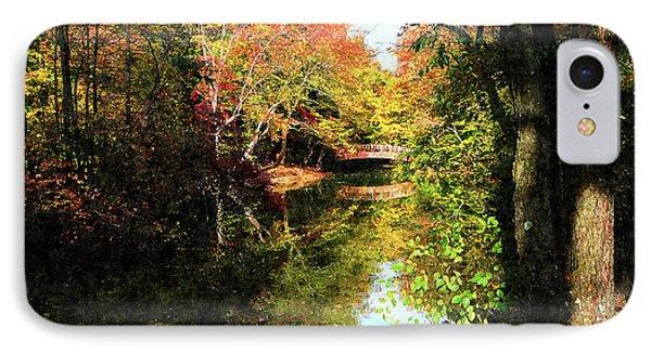 Autumn Park With Bridge Phone Case by Susan Savad