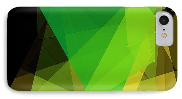 Autumn Polygon Pattern IPhone Case by Frank Ramspott
