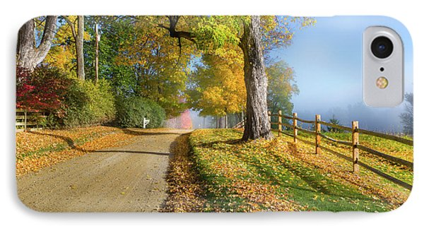 Autumn Rural Road IPhone Case by Bill Wakeley