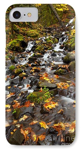 Autumn Tumbles Down IPhone Case by Mike  Dawson