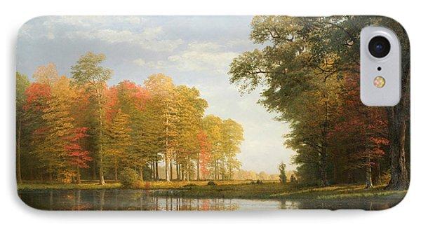 Autumn Woods IPhone Case by Albert Bierstadt