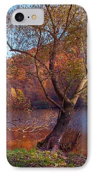 Autumnal Trees By The Lake IPhone Case by Jenny Rainbow
