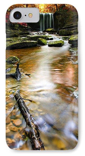 Autumnal Waterfall IPhone Case by Meirion Matthias