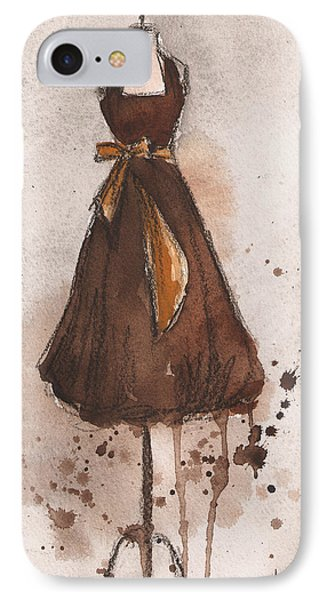 Autumn's Gold Vintage Dress IPhone Case by Lauren Maurer
