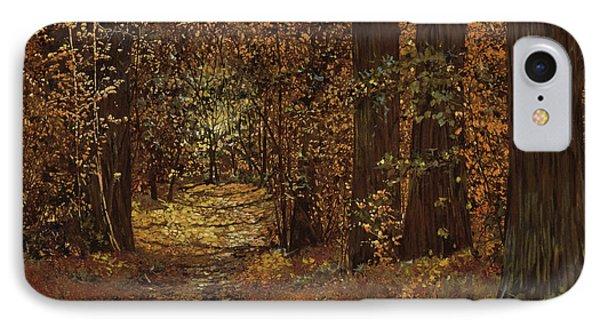 Autunno nei boschi painting by guido borelli for Case moderne nei boschi