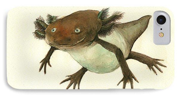 Axolotl IPhone 7 Case by Juan Bosco