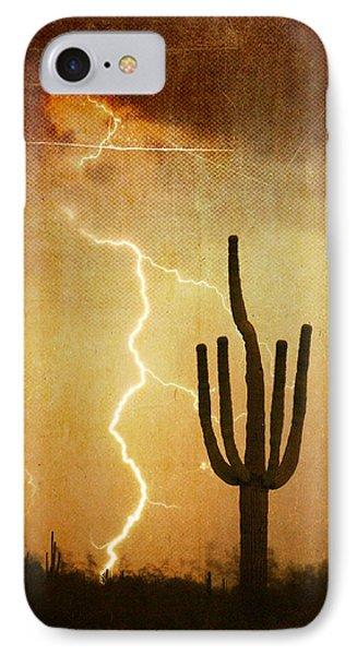 Az Saguaro Lightning Storm V Phone Case by James BO  Insogna