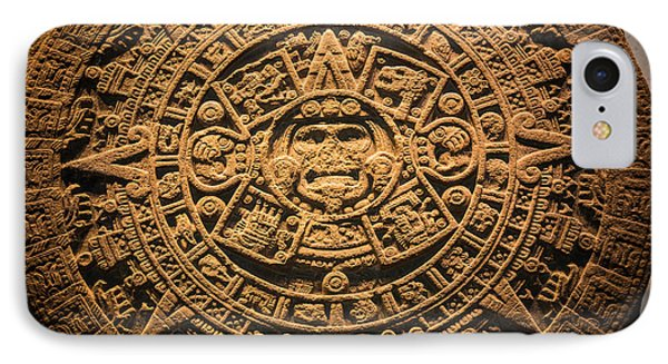 Aztec Stone Of The Sun  IPhone Case by Inge Johnsson