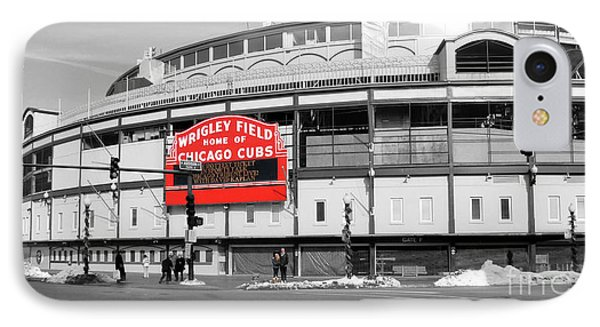 B-w Wrigley 100 Years Young IPhone Case by David Bearden