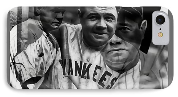 Babe Ruth Collection IPhone Case by Marvin Blaine