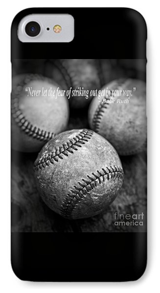 Babe Ruth Quote IPhone Case by Edward Fielding