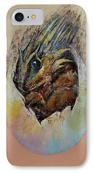 Baby Dragon IPhone Case by Michael Creese