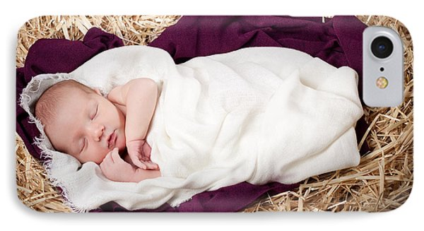 Baby Jesus Nativity IPhone Case by Cindy Singleton
