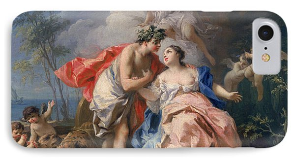 Bacchus And Ariadne IPhone Case by Jacopo Amigoni