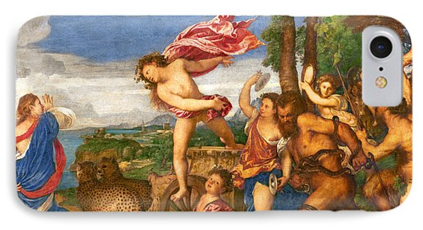 Bacchus And Ariadne IPhone 7 Case by Titian