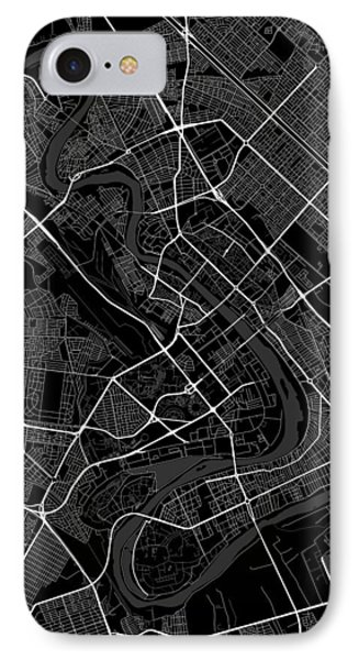 Baghdad Iraq Dark Map IPhone Case by Jurq Studio