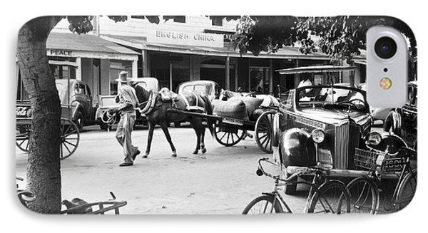 Bahama Street Scene IPhone Case by Underwood Archives