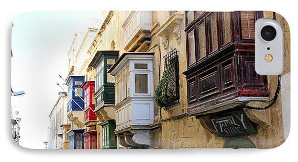 Balconies Of Valletta 3 IPhone Case by Jasna Buncic