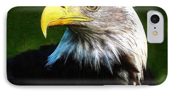 Bald Eagle Face IPhone Case by Dan Sproul