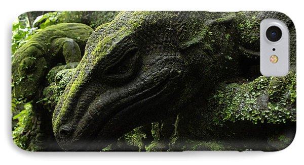Bali Indonesia Lizard Sculpture IPhone Case by Bob Christopher