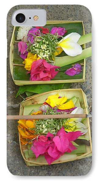 Balinese Offering Baskets Phone Case by Mark Sellers