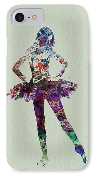 Ballerina Watercolor IPhone Case by Naxart Studio