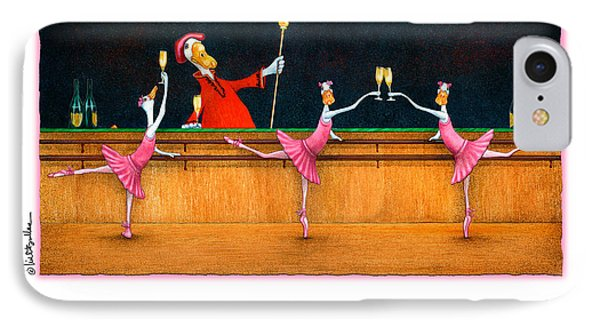 Ballet Up To The Barre... IPhone Case by Will Bullas