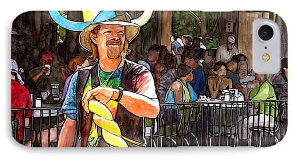 Balloon Guy At Cafe Du Monde IPhone Case by John Boles