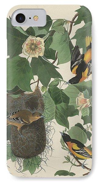 Baltimore Oriole IPhone Case by John James Audubon