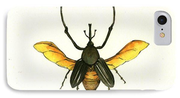 Bamboo Beetle IPhone 7 Case by Juan Bosco