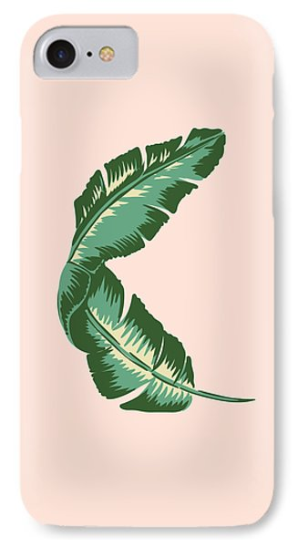 Banana Leaf Square Print IPhone Case by Lauren Amelia Hughes