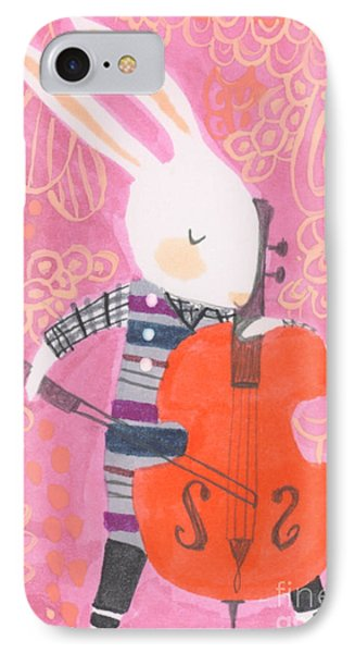 Cello Band Geek IPhone Case by Kate Cosgrove