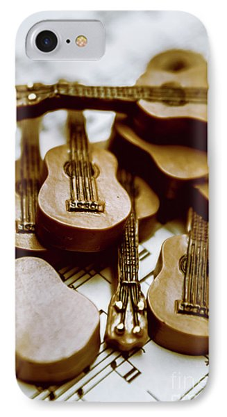 Band Of Live Acoustic Guitars IPhone Case by Jorgo Photography - Wall Art Gallery