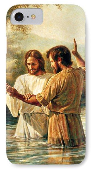 Baptism Of Christ IPhone Case by Greg Olsen