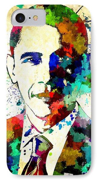 Barack Obama Grunge IPhone Case by Daniel Janda