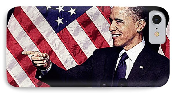 Barack Obama IPhone 7 Case by Iguanna Espinosa