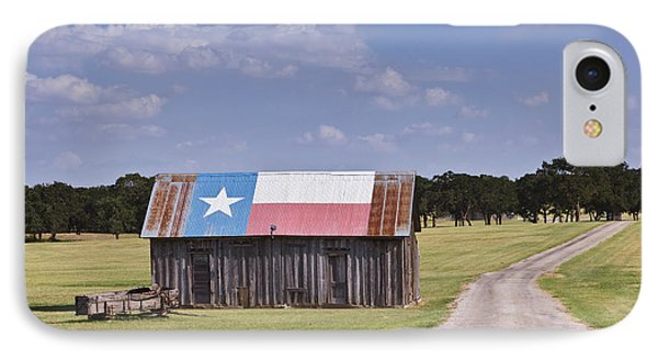 Barn Painted As The Texas Flag IPhone Case by Jeremy Woodhouse