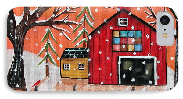 Barn Quilt IPhone Case by Karla Gerard