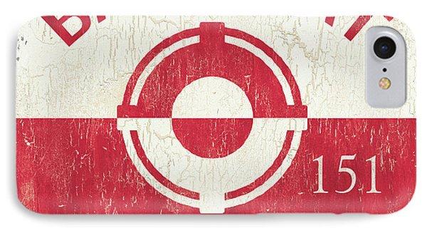 Barnegat Beach Badge IPhone Case by Debbie DeWitt