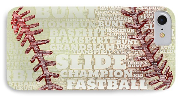 Baseball 2 IPhone Case by Brandi Fitzgerald