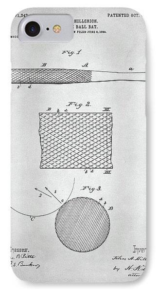 Baseball Bat Patent IPhone Case by Taylan Soyturk