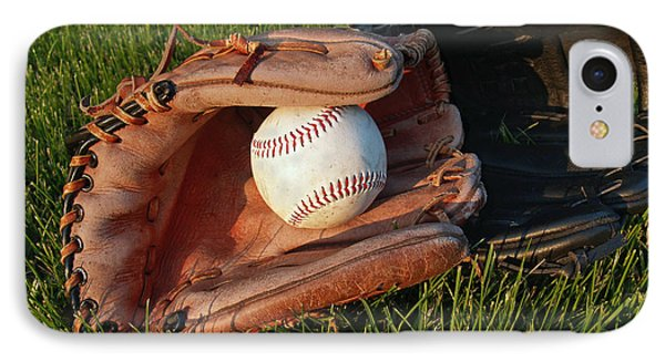 Baseball Gloves After The Game IPhone 7 Case by Anna Lisa Yoder