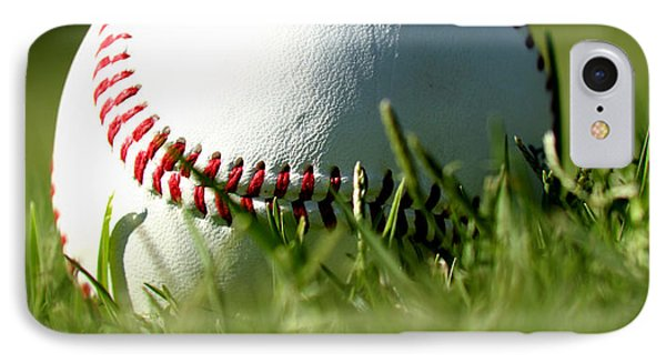 Baseball In Grass IPhone 7 Case by Chris Brannen