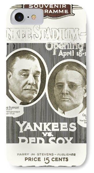 Baseball Program, 1923 IPhone Case by Granger